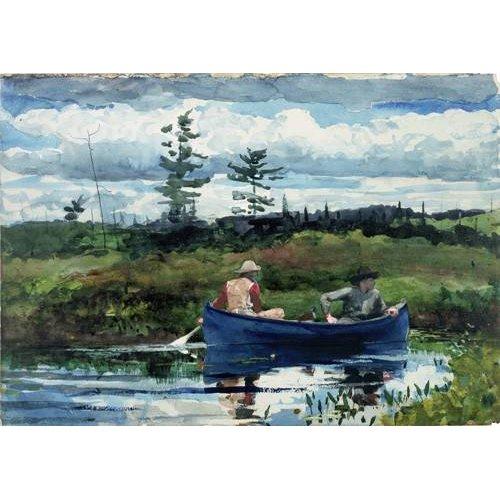 cuadros de mapas, grabados y acuarelas - Cuadro -The Blue Boat, 1892-