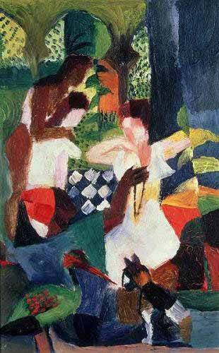 cuadros-abstractos - Cuadro -The turkish jeweller- - Macke, August