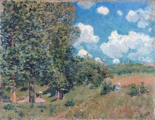 cuadros-de-paisajes - Cuadro -The Road from Versailles to Saint-Germain, 1875- - Sisley, Alfred