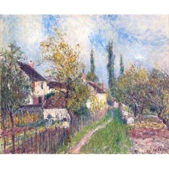 - Cuadro -Un sentier aux Sablons (A path at Les Sablons), 1883- - Sisley, Alfred