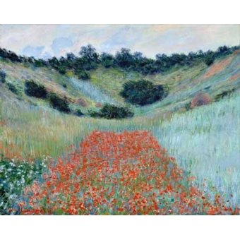 Cuadro -Poppy Field in a Hollow near Giverny, 1885-