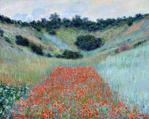 cuadros-de-paisajes - Cuadro -Poppy Field in a Hollow near Giverny, 1885- - Monet, Claude