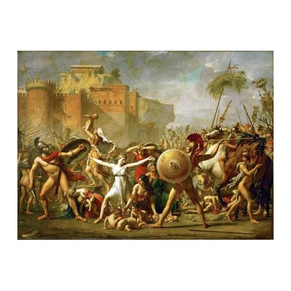 cuadros de retrato - Cuadro -The Sabine women halting the battle between Romans and Sabines,