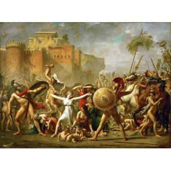 cuadros de retrato - Cuadro -The Sabine women halting the battle between Romans and Sabines, - David, Jacques Louis