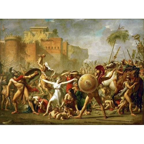 Cuadro -The Sabine women halting the battle between Romans and Sabines,