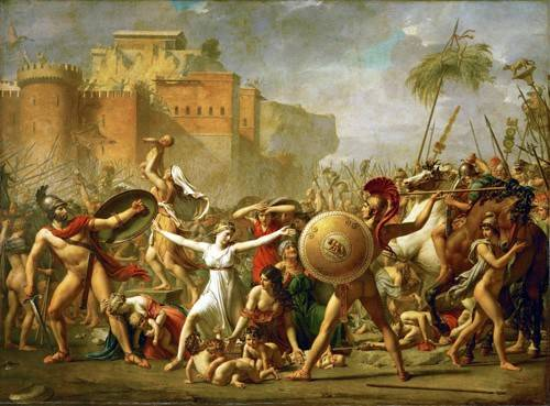 cuadros-de-retrato - Cuadro -The Sabine women halting the battle between Romans and Sabines, - David, Jacques Louis
