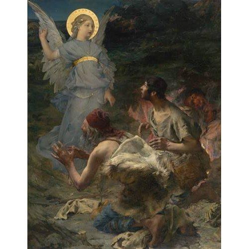 cuadros religiosos - Cuadro -La Anunciación a Los Pastores, 1875-
