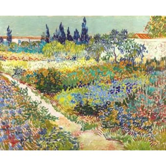 - Cuadro -Garden at Arles, 1888- - Van Gogh, Vincent