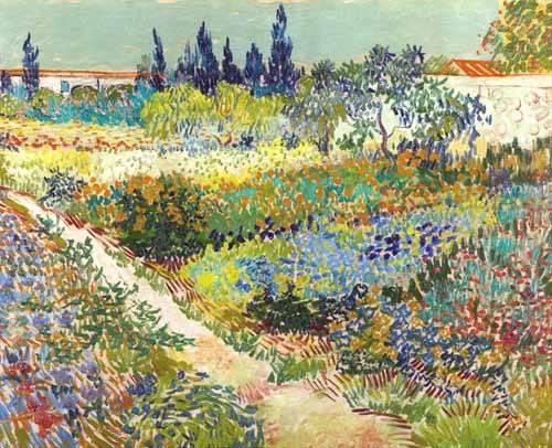 cuadros-de-paisajes - Cuadro -Garden at Arles, 1888- - Van Gogh, Vincent