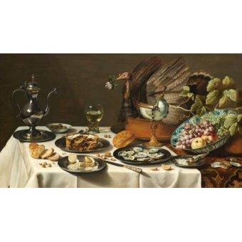 - Cuadro -Bodegon con pastel turco, 1627- - Heda, Willem Claesz
