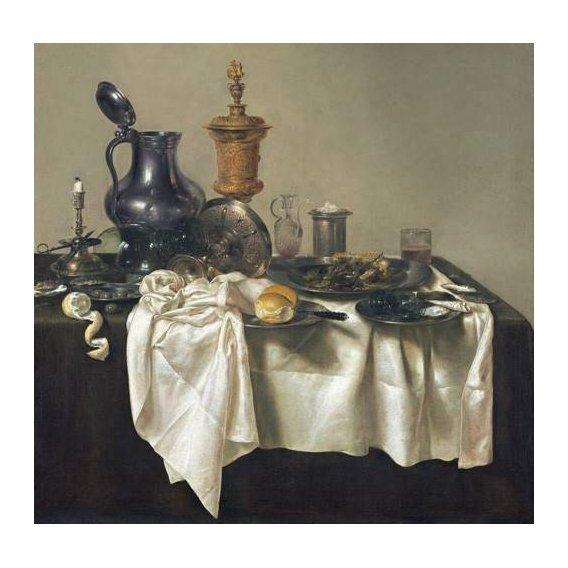 cuadros de bodegones - Cuadro -Banquet Piece with Mince Pie, 1635-