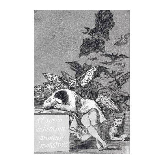 cuadros de mapas, grabados y acuarelas - Cuadro -El sueño de la razon produce monstruos_(N_43), de Los Caprichos