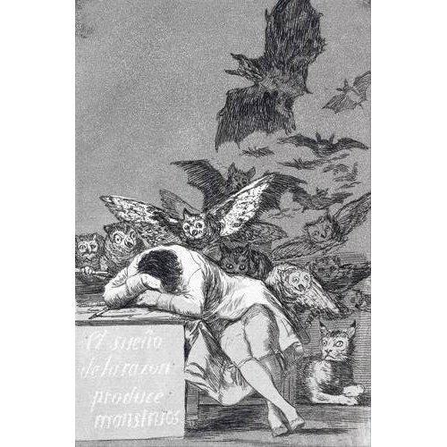 Cuadro -El sueño de la razon produce monstruos_(N_43), de Los Caprichos