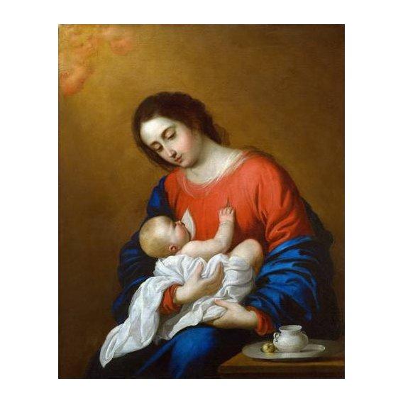 cuadros religiosos - Cuadro -La Virgen y El Niño, 1658-