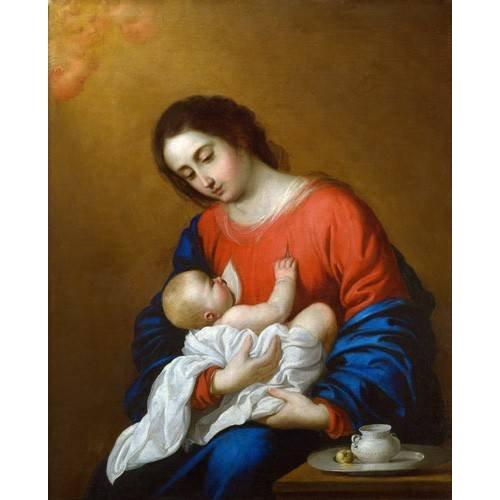 Cuadro -La Virgen y El Niño, 1658-