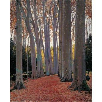 - Cuadro -Avenue of Plane Trees, 1916- - Rusiñol, Santiago