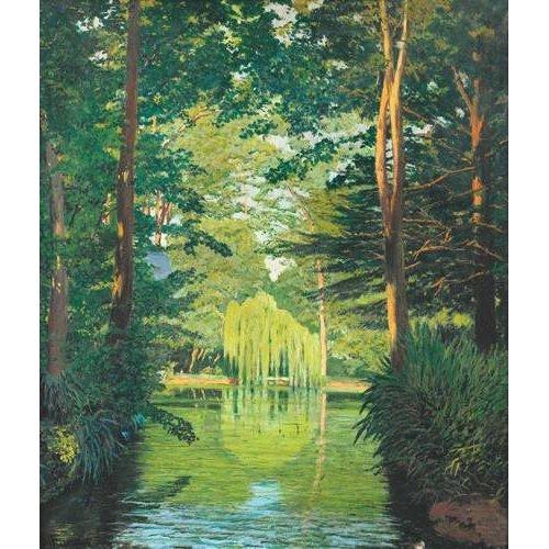 Cuadro -Paisaje en un lago-