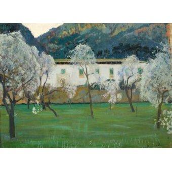 - Cuadro -La Granja Blanca en Bunyola, Majorca, 1902- - Rusiñol, Santiago