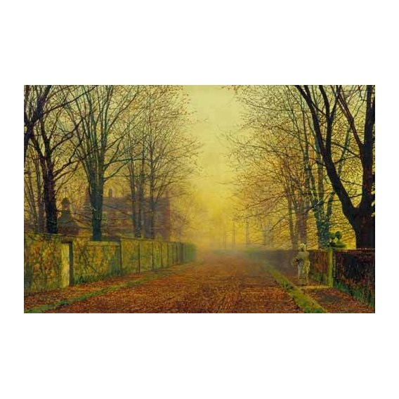 cuadros de paisajes - Cuadro -Evening_Glow, 1888-