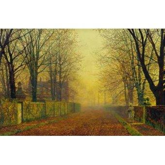 - Cuadro -Evening_Glow, 1888- - Grimshaw, John Atkinson