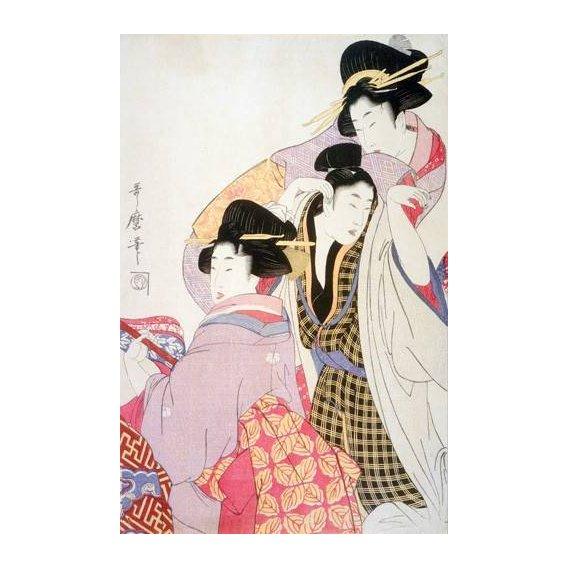 cuadros etnicos y oriente - Cuadro -Two Geishas and a Tipsy Client-