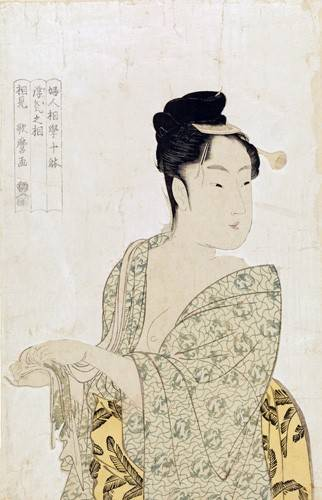 cuadros-etnicos-y-oriente - Cuadro -Ten physiognomic types of women, Coquettish type- - Utamaro, Kitagawa