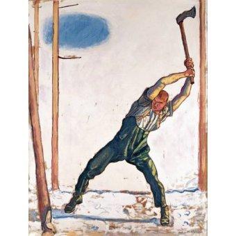 cuadros de retrato - Cuadro -Woodcutter, 1910- - Hodler, Ferdinand