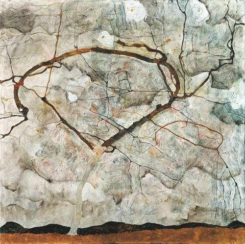 cuadros-abstractos - Cuadro -Autumn Tree in Stirred Air (Winter Tree), 1912- - Schiele, Egon