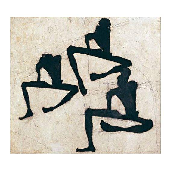 cuadros abstractos - Cuadro -Abstracto _ Composition with Three Male Nudes, 1910-