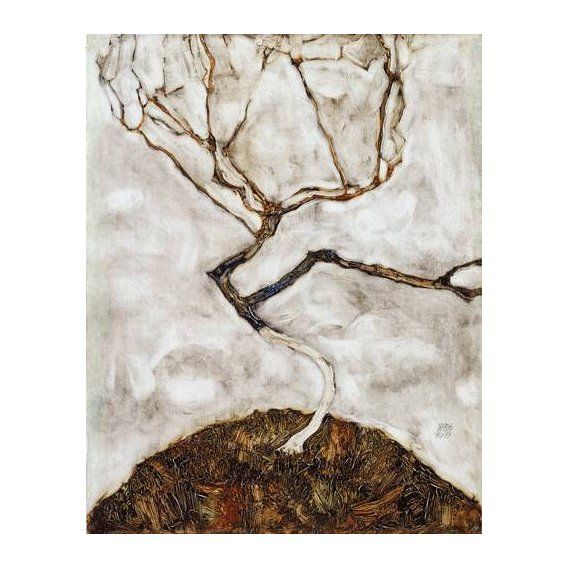 cuadros abstractos - Cuadro -Small Tree in Late Autumn, 1911-