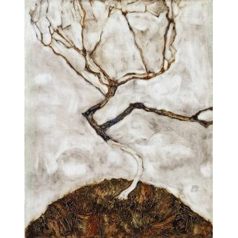 cuadros abstractos - Cuadro -Small Tree in Late Autumn, 1911- - Schiele, Egon
