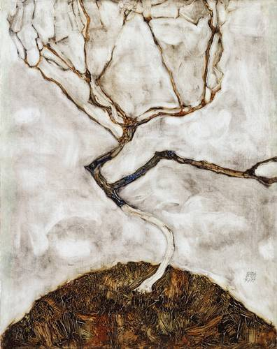 cuadros-abstractos - Cuadro -Small Tree in Late Autumn, 1911- - Schiele, Egon