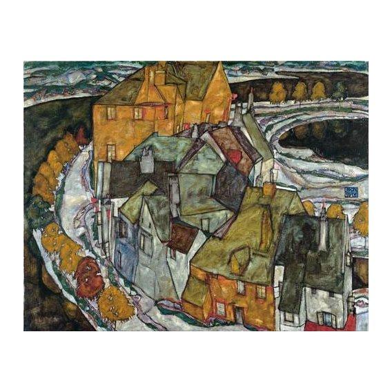 cuadros de paisajes - Cuadro -Crescent of Houses II (Island Town), 1915-