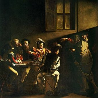 cuadros renacimiento - Cuadro -La vocacion de San Mateo- - Caravaggio, Michelangelo M.