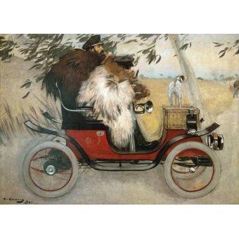 - Cuadro -Ramon Casas y Pere Romeu en automovil, 1901- - Casas i Carbó, Ramón