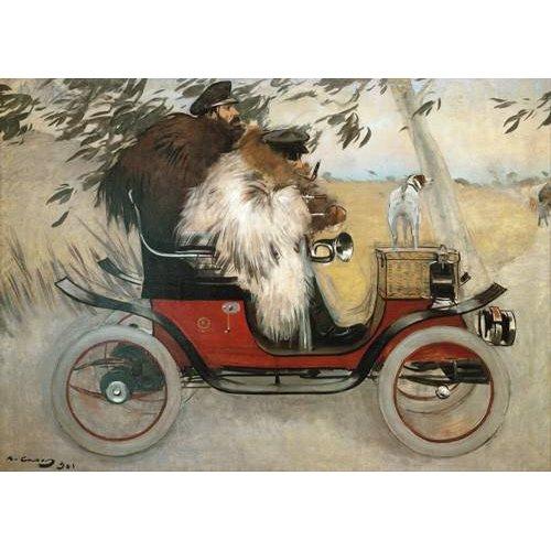 Cuadro -Ramon Casas y Pere Romeu en automovil, 1901-
