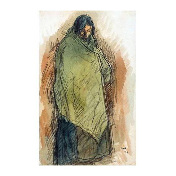 cuadros de retrato - Cuadro -Gypsy Standing, 1906-