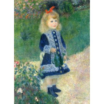 - Cuadro -A Girl with a Watering Can, 1881- - Renoir, Pierre Auguste