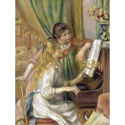 cuadros de retrato - Cuadro -Young Girls at the Piano, 1892-