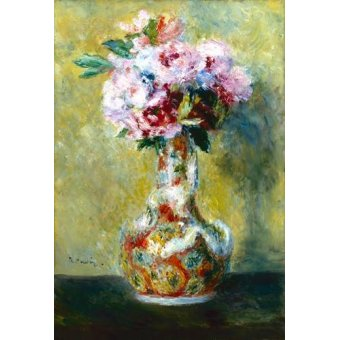 - Cuadro -Bouquet in a Vase- - Renoir, Pierre Auguste
