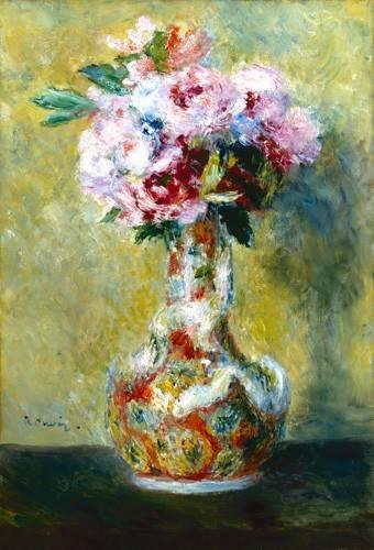cuadros-de-flores - Cuadro -Bouquet in a Vase- - Renoir, Pierre Auguste