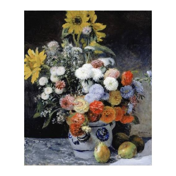 cuadros de flores - Cuadro -Mixed Flowers in an Earthenware Pot, 1869-