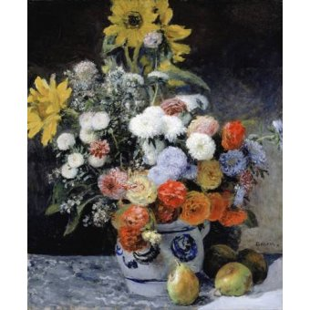 cuadros de flores - Cuadro -Mixed Flowers in an Earthenware Pot, 1869- - Renoir, Pierre Auguste