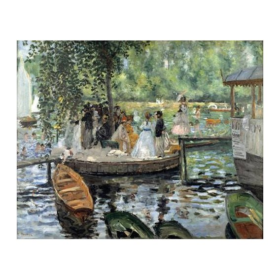 cuadros de paisajes - Cuadro -La Grenouillère, 1869-
