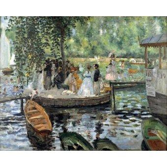 - Cuadro -La Grenouillère, 1869- - Renoir, Pierre Auguste