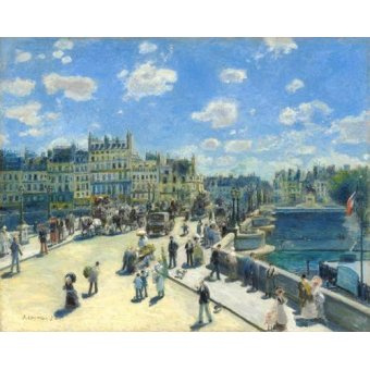 - Cuadro -Pont Neuf, Paris, 1872- - Renoir, Pierre Auguste