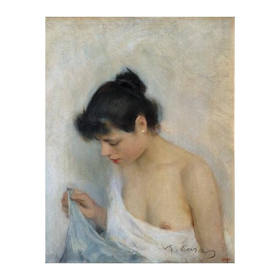 cuadros de desnudos - Cuadro -Study, 1893-