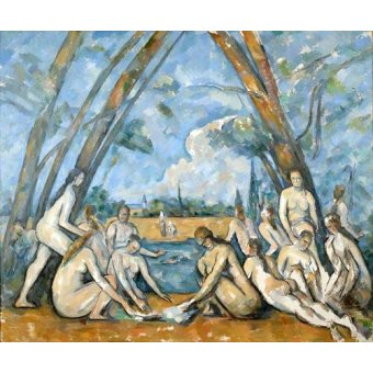 cuadros de retrato - Cuadro -The Large Bathers, 1906- - Cezanne, Paul
