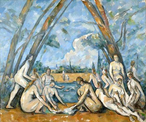 cuadros-de-retrato - Cuadro -The Large Bathers, 1906- - Cezanne, Paul