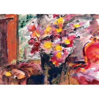cuadros de bodegones - Cuadro -Flower Vase on a Table- - Corinth, Lovis